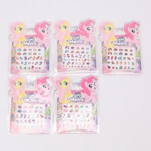 Image 3 - 5pcs/set My Little Pony Toys PVC Pony Stickers Pack Children Girl Nail Stickers 3D Rainbow Dash Twilight Sparkle Pinkie Pie
