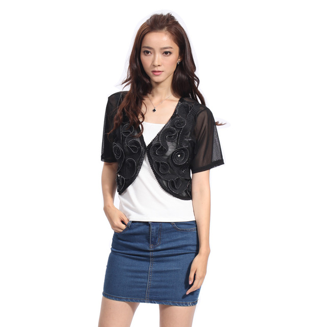 Aliexpress.com : Buy hand knitted Women Lace Shrug Hollow Out 2 ...