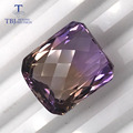 TBJ ,Natural 22.25ct checkerboard cutting two color ametrine loose gemstones for gold and silver jewelry making DIY