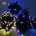 Solar Luzes De Natal 4.8 M-22 M LEVOU Luz Da Corda de Fadas Solares para Jardins Ao Ar Livre Casas de Casamento Festa de Natal, à prova d' água