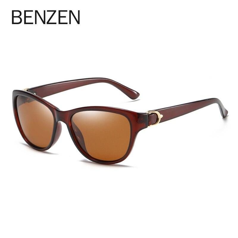 BENZEN Polarized Sunglasses Women Brand Designer Retro Female Sun Glasses For Driving Shades Gafas UV 400 Black  6131