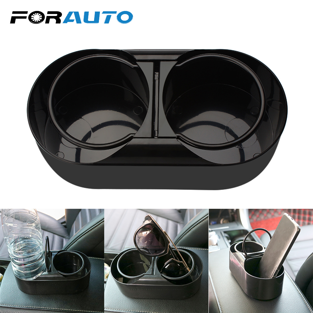 FORAUTO Dual Hole Drink Bottle Water Beverage Holder Cup Holder Stand Car Truck Mount ABS Universal Car Styling Auto Accessories drink holder car plastic universal auto car vehicle drink bottle beverage cup holder air vent mount stand for truck van
