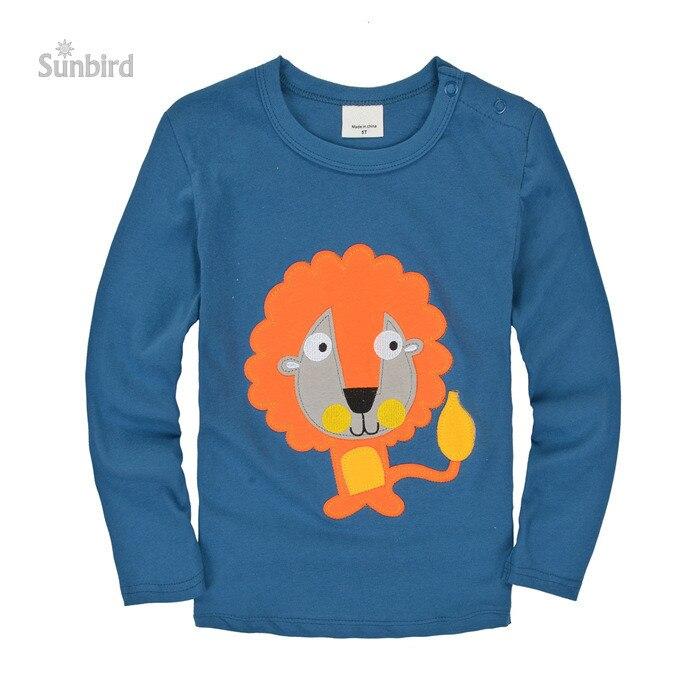 Bjt312, Lion, Enfants garçon T chemises, Bébé t-shirts, 100% coton à  manches longues T Shirts Top pour 1 - 6 ano ce3cc560bdf