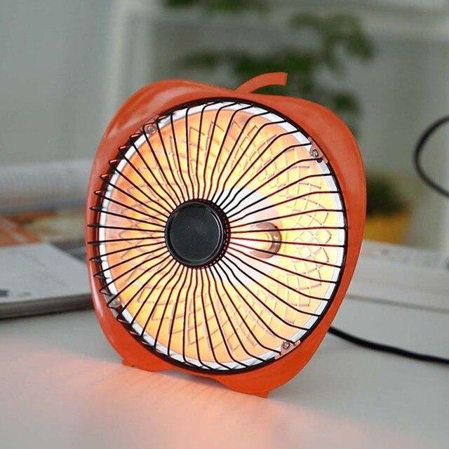 Зимнее мини-солнечные творческие 6 дюймов мультфильм электрический нагреватель Office для настольных нагреватель небольшой тепловентилятор