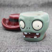 Plantas Zombies Cartoon Taza de cerámica personalizada Cráneo 3D Taza de café leche Té Oficina Botella de Cerveza de Regalo de Cumpleaños frasco Manejar taza
