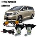 Shin-Man Auto luz LED T20 7440 LED Para Toyota Alphard 2002-2015 Luces de Circulación Diurna DRL y Señales de Vuelta delanteras Todo En Uno