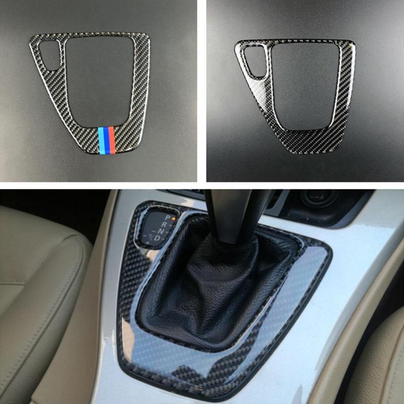 VODOOL Tampa Do Painel de Caixa de Fibra De Carbono Da Shift de Engrenagem para BMW E90 Auto Alavanca de Câmbio Do Carro Decalque Guarnição Para BMW e90 E92 E93 Interior