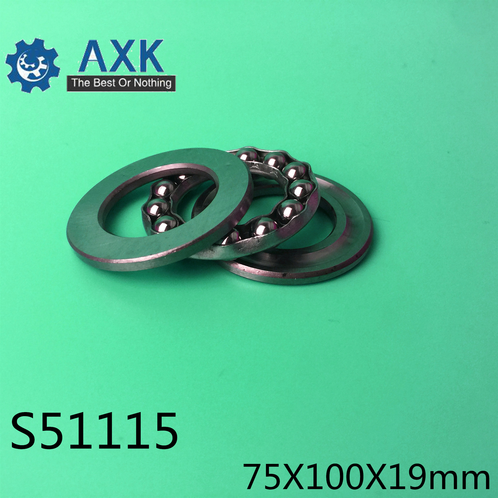 S51115 Bearing 75*100*19 mm ( 1PC ) ABEC-1 Stainless Steel Thrust S 51115 Ball BearingsS51115 Bearing 75*100*19 mm ( 1PC ) ABEC-1 Stainless Steel Thrust S 51115 Ball Bearings
