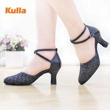 2017 New High-heeled Lady Latin Dance Shoes Women's Ballroom Tango salsa Tap Latin Dancing shoes For Ladies Black Dance Shoes