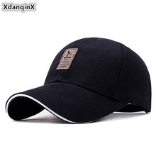 XdanqinX Snapback Cap Adult Mens Cotton Baseball Caps Adjustable Size Tongue For Men Women New Fashion Letter Womens Hat