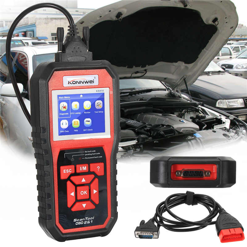 KW850 OBD II Scan Tool Check Engine Auto Car Code Reader EOBD Diagnostic Scanner