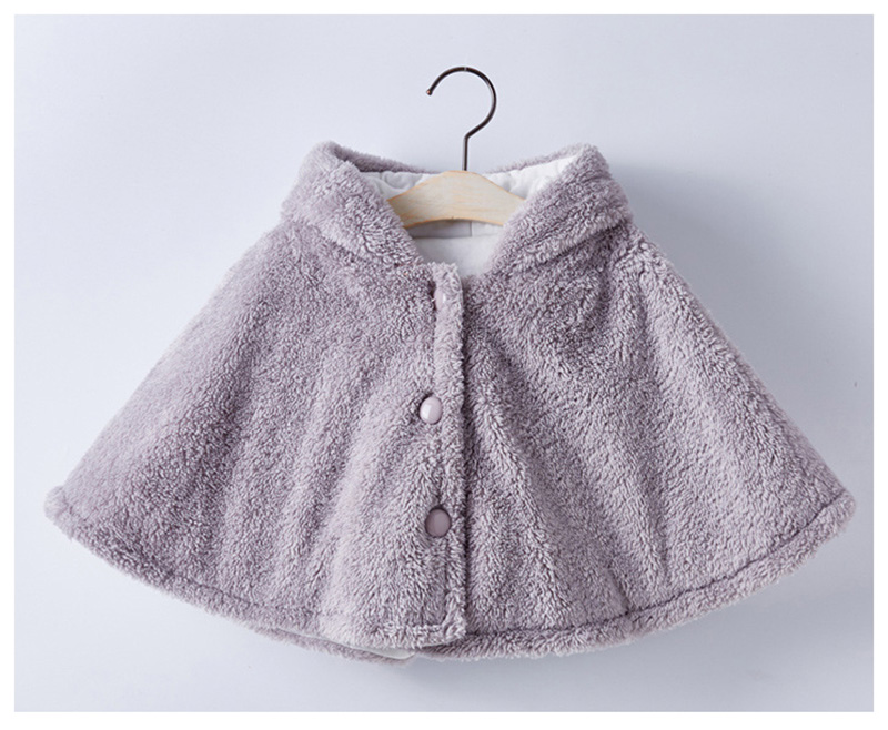 winter wind proof cloak for baby girls boys cotton warm jackets kids coats children clothes duffy bear coats (3)