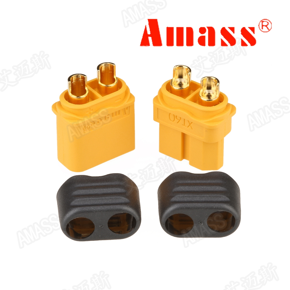 10pcs Amass xt60 XT60H XT30U XT60 XT60U 5 Male 5 Female 5 Pairs RC li-po battery Bullet Connectors Plugs fpv drone frame parts 60020685322 i o connectors 68p female straight mr li