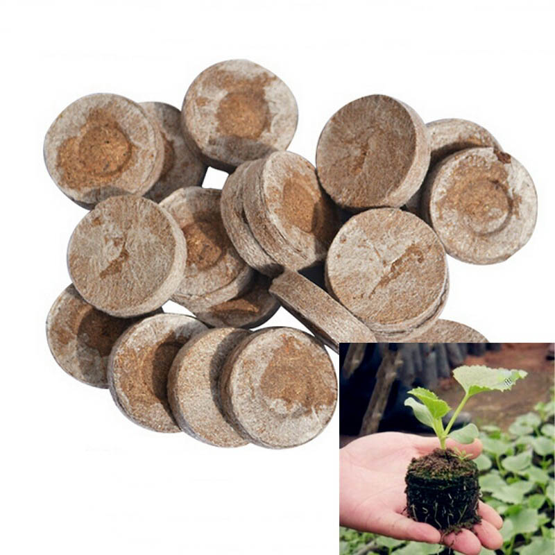 5Pcs Peat Pellets compression Nursery Block Nutrition Magic Soil Gardening Tool Potted Plant Seed Garden Supplies Portable