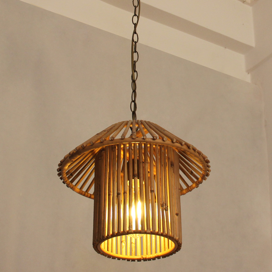 Bamboo Pendant Lamp Japanese Style For Ding Living Room Restaurant, Fields and gardens style house pendant lights chinese style classical wooden sheepskin pendant light living room lights bedroom lamp restaurant lamp restaurant lights