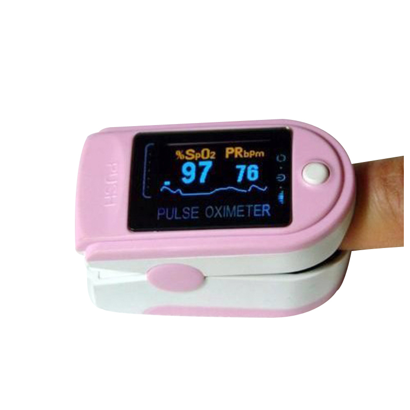 Hot Fingertip Pulse Oximeter Spo2 Monitor Pulse Oximeter Module CMS 50D SPO2 And Pulse Rate With Color Box Packing Free Shipping lson fingertip pulse oximeter