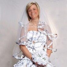 Свадебные белые камуфляжные Обрезанные Свадебные вуали камуфляж