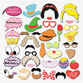 38pcs Cute DIY Mustache Lip Princess Valentine Day Beard Wedding Decoration Event Festive Party Supplies Favors Photo Props