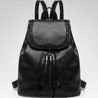 Plecak skóra nowe wiadro kobiet torby moda mini podwójne ramię ukośnie torba mała linia kitki anti-theft dymu plecak