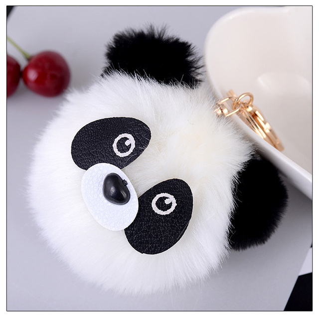 Super Porte Fluffy Clés Pompon Mignon Panda Fourrure Ours Jc51TlFKu3