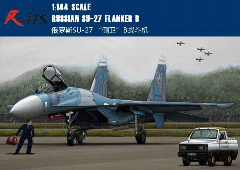 RealTS Trumpeter model 03909 1/144 Russian Su-27 Flanker B plastic model kit цена