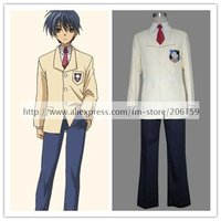 Clannad High School School Uniform Boys Cosplay Costume for halloween party suit Freeshipping