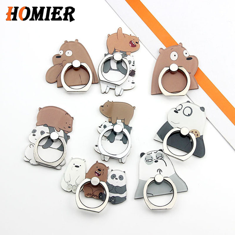 Hot Sale Universal Phone Stand Three Bear Bracket Metal Stand Phone Holder Finger Cute Cartoon Stand For Iphone 5s 6s 7 8 Plus X