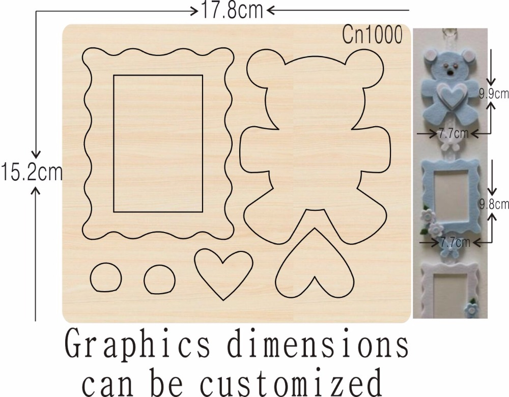 Bear and photo album new wooden mould cutting dies for scrapbooking Thickness 15 8mm