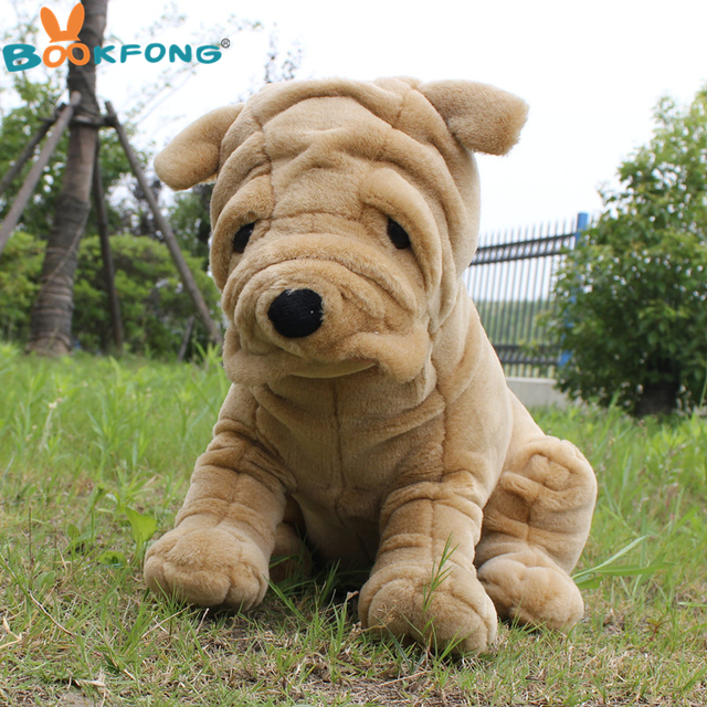BOOKFONG 40 CM Emulational Pugs Bulldog Cão Sharpei Plush Toy Stuffed  Animal de Pelúcia Brinquedos Macios cc71bb81d1d
