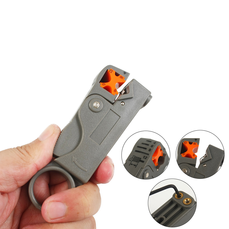 New Arrival F-Type Coaxial Compression Connector Stripper Tool Set for Coax Cable Crimper Tools