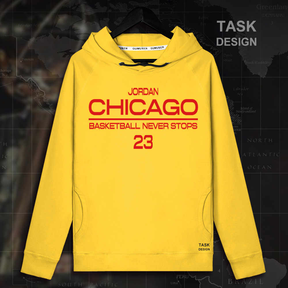 Jordan Men pullovers hoodies sweatshirt Chicago MJ clothing streetwear casual tracksuit Bulls USA basketballer star summer 23