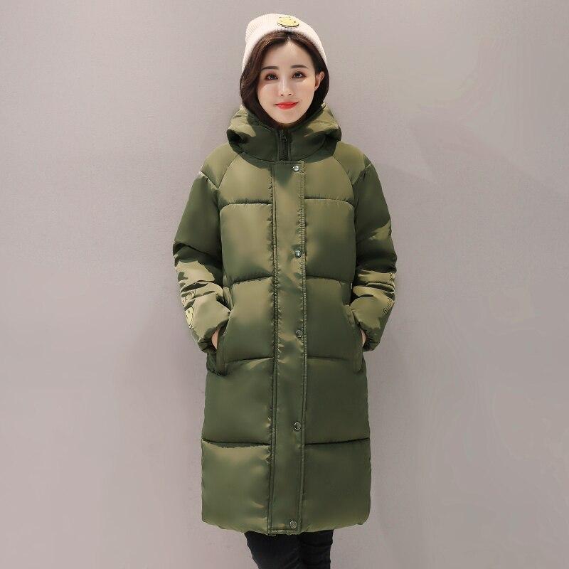 rouge Kuyomens Manteau blanc Chaude vert Hiver long 2017 Femmes Vente Haute Moyen army Veste Green or Rembourré Qualité gris Noir rose Coton rqwxrR1