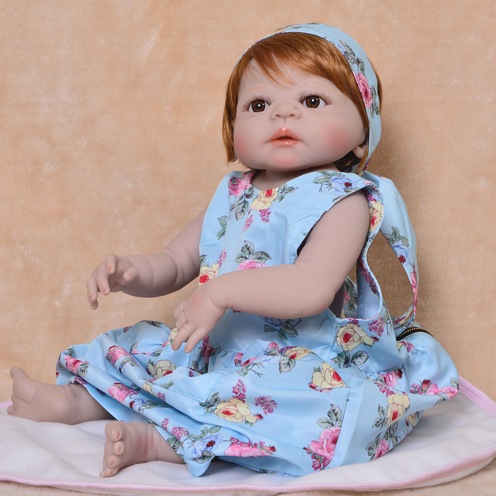 Unique 23Reborn Doll Full Silicone Body Brown Hair Reborn Dolls Lifelike Kids Playmates Baby Toys Girl Xmas Christmas GiftsUnique 23Reborn Doll Full Silicone Body Brown Hair Reborn Dolls Lifelike Kids Playmates Baby Toys Girl Xmas Christmas Gifts
