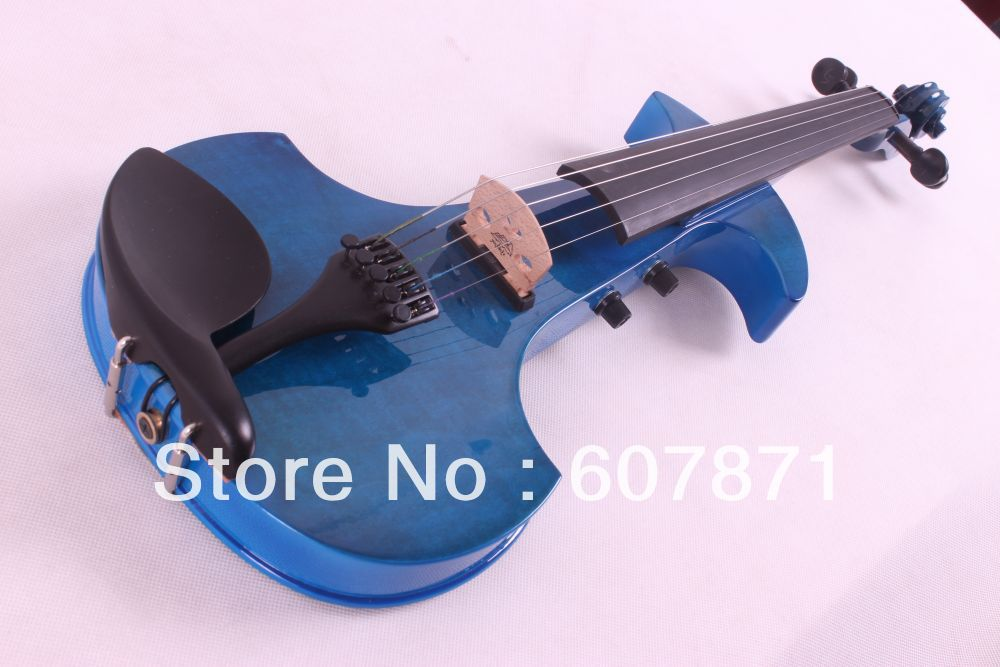 New 4-string 5 string  4/4 Electric violin patent silent   6.5 big pick up   blue  black  red  color  choose1228# new 4 string 4 4 electric acoustic violin patent silent fine sound 1