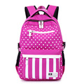 Cute Girl Backpacks For School Striped Oxford Backpack For Teen Girls Bookbag