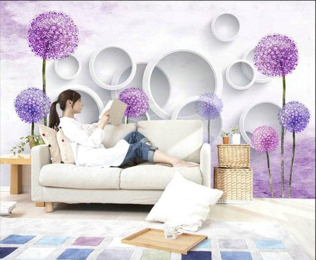 Aromatiques violet fleurs motif de litige depuis la maison for Peinture murale motif