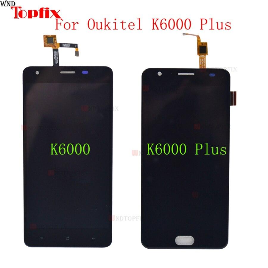 En Stock 5.5 Pouces LCD Pour Oukitel K6000 LCD Affichage Écran Tactile Digitizer Remplacement Pour Oukitel K6000 Plus lcd l'assemblée
