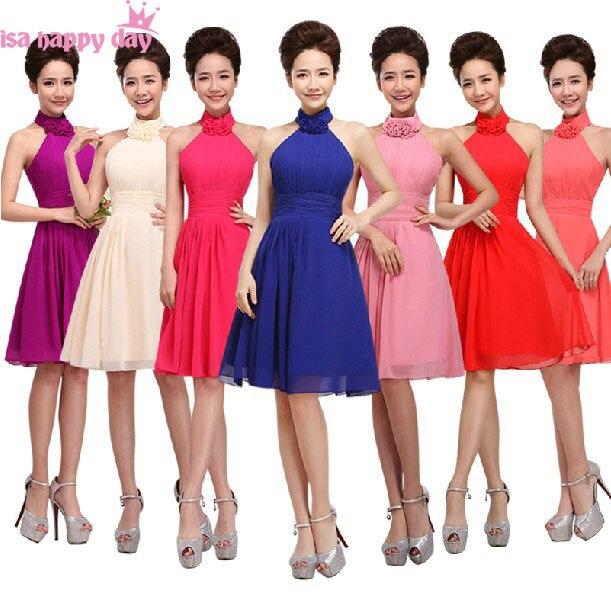 b1532571b35 Robe soiree grande taille courte élégante robes de demoiselle d honneur une  ligne sans manches pour les filles une occasion spéciale nouvelle mode 2019  ...