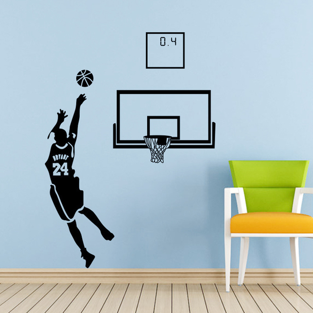 31370cd6b High Quality MVP KOBE Bryant NO. 24 Clutch Shooting CAVS Basketball Wall  Sticker Home Decor Big Vinyl Child Room Sticker