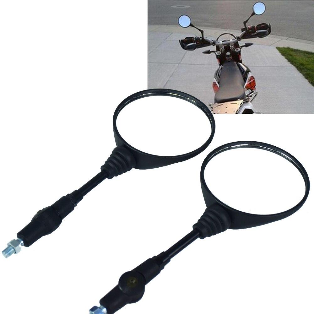 Dobrável Universal motorbike Side Espelhos Da Motocicleta Espelho Retrovisor Espelho 10mm Para yamaha para Honda para Suzuki