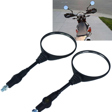on sale big size motorcycle mirrors 8mm universal motorbike rear view mirror for yamaha honda suzuki parts plastic black цена и фото