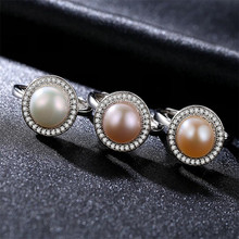 925 silver ring with freshwater pearl for women trendy jewellery dropshipping anel anillos aneis bagues femme statement jewelry цена