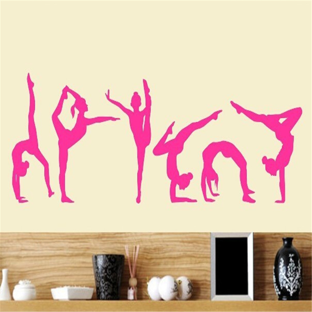 Aliexpress buy six dance girls gymnastics wall sticker sport aliexpress buy six dance girls gymnastics wall sticker sport vinyl art wall mural sticker for home decoration wall papers girls bedroom decor from amipublicfo Image collections