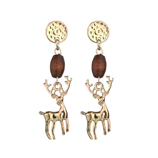 Christmas Deer Dangle Earrings
