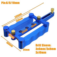 6/8/10mm Self Centering Dowelling Jig Metric Dowel Drilling Wood Drill Kit Woodworking Hand Tools MAL999