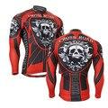 Mangas compridas Zipper Pele Compressão Apertado T-shirt dos homens 3D Imprime Tops Respirável Multi-funcional Mens Bicicleta Jersey Top desgaste
