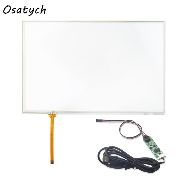 10.1 inch 4Wire 224mm*149mm Resistive Touch IPS LCD Touch Screen for HSD101PWW1 B101AW03 B101UAN02.1 Handwritten Screen