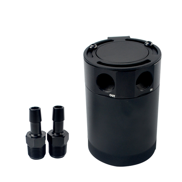 Compact Baffled 2-Port Oil Catch Can