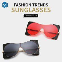 3fb56493e7 L'MISME lunettes de soleil steampunk Pour Les Femmes Grand Cadre Unisexe  Exagérée Métal Sun Verre Surdimensionné Carré Lunettes .
