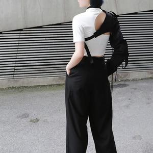 Image 3 - [EAM] Camisa de manga larga de una cara para mujer, camisa con personalidad Irregular, blusa de moda JX407, primavera y verano, 2020